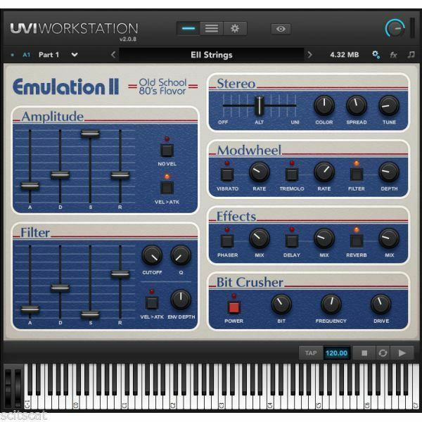 UVI Emulation II 12-bit Synth / Sampler Virtual Instrument Software - eDelivery