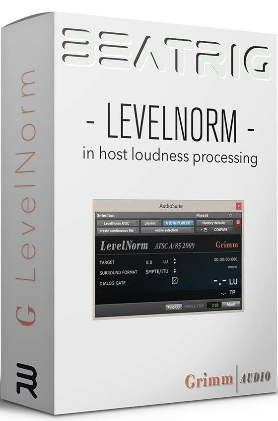 Beatrig Levelnorm 2 Loudness Normalisation - One Plugin for Realtime and Offline Loudness Correction