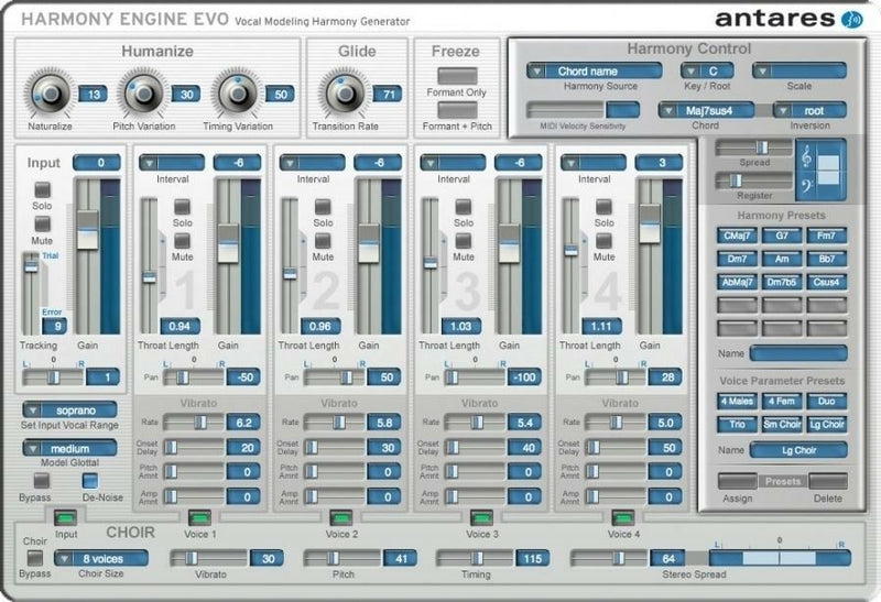 Antares Harmony Engine EVO Vocal Modeling Harmony Generator Plugin Software - eDelivery