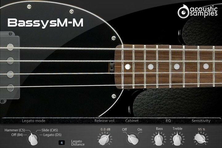 New AcousticSamples Bassysm M Muted Musicman UVI VST AU Mac PC Software