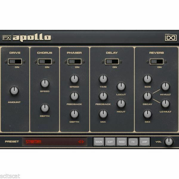UVI PX Apollo Vintage Analog Polysynth Virtual Instrument Software - eDelivery