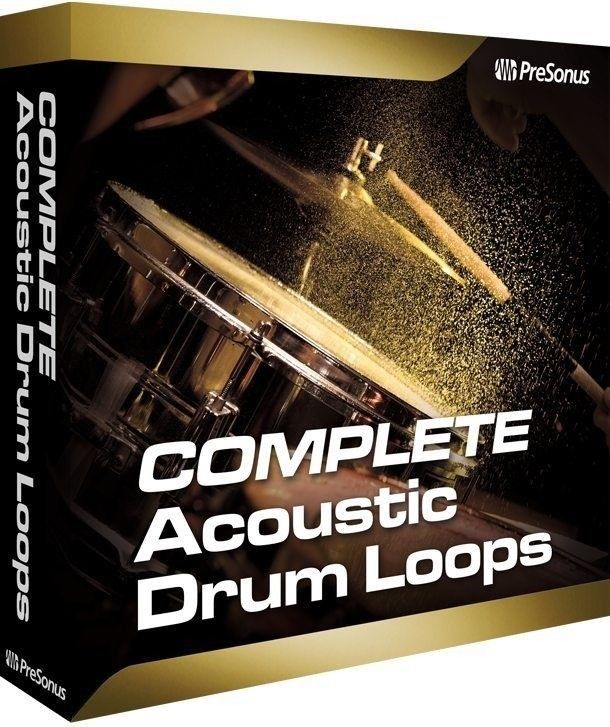 New PreSonus Acoustic Drum Loops Complete Mac/PC Studio One Add-on