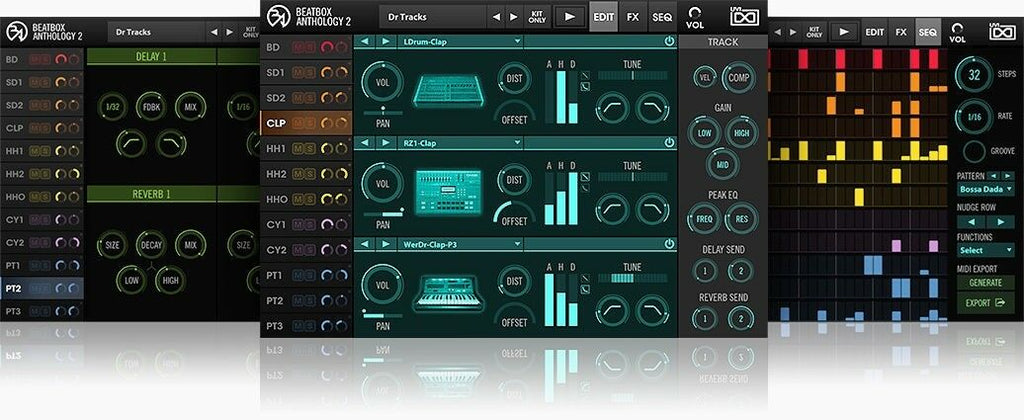 UVI Beat Box Anthology 2 Virtual Instrument PC Mac Plug-In VST AU AAX MAS