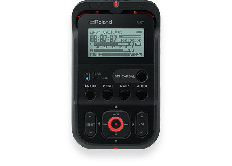 Roland R-07 Ultra-Portable Recorder w/Wireless Listening & Remote