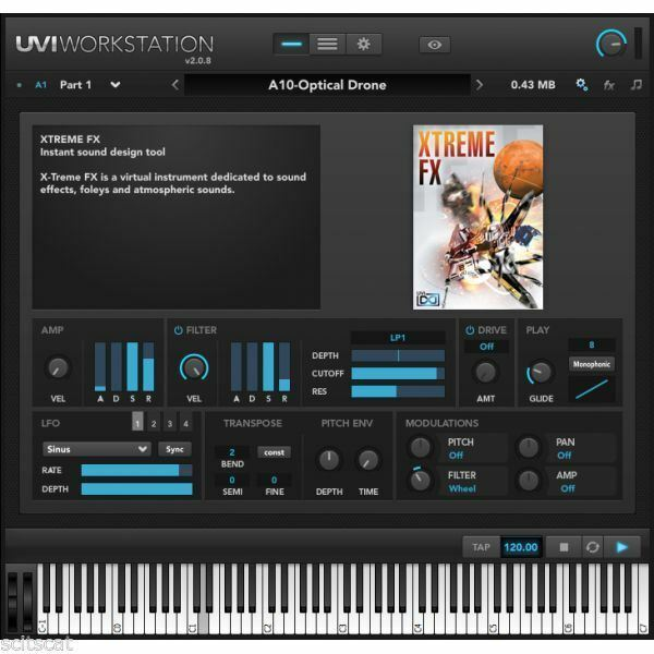 UVI Xtreme FX  1.5 Virtual Instrument Windows Mac  VST AAX AU eDelivery