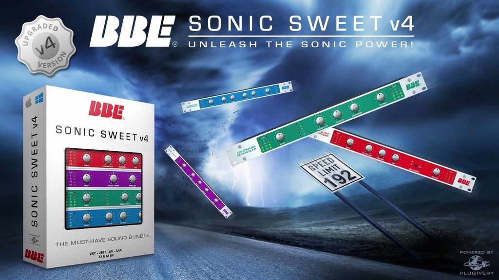 BBE Sound Sonic Sweet V.4 Virtual Processor Plug-in AAX AU VST MAC PC