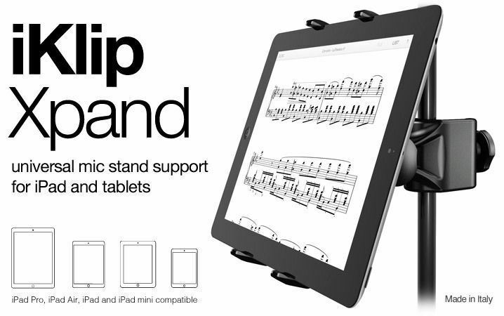 IK Multimedia iKlip Xpand / Universal Mic Stand Support for iPad & Tablets