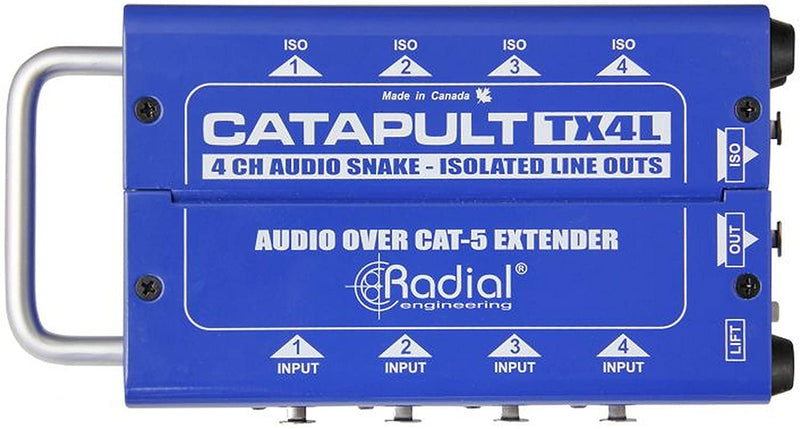 Radial Engineering Catapult TX4L 4-Channel for Line-Level Signal Routing over Cat5/6 (Transmitter)