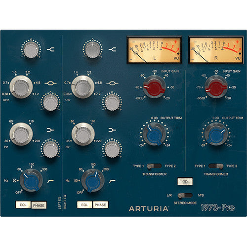 Arturia 1973 Pre Vintage Preamp Plugin Software - eDelivery