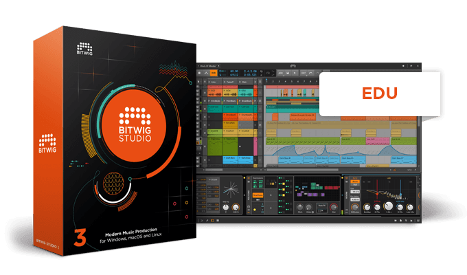 Bitwig Studio 3 Music Production DAW Software EDU/Academic - eDelivery