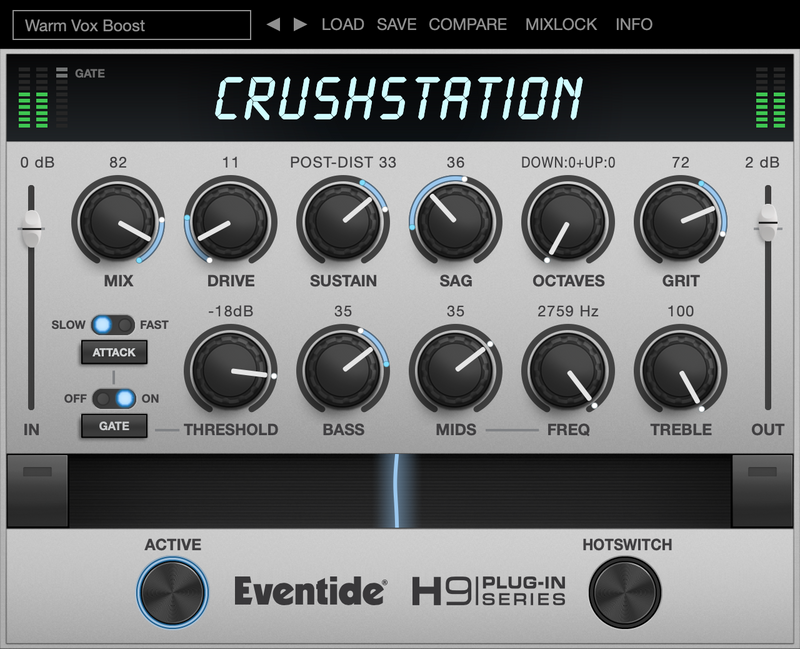 Eventide Crushstation Overdrive/Distortion Command Center Plugin Software AU/AAX/VST Mac/PC eDelivery