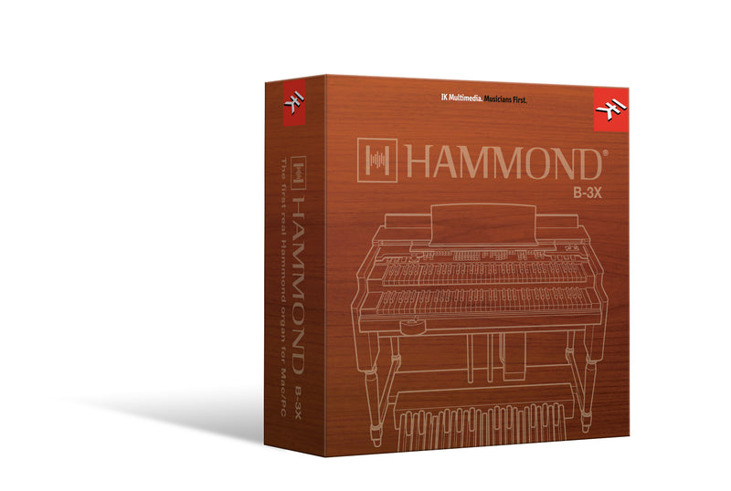 IK Multimedia Hammond B-3X Hammond Organ Software Plugin Mac/PC AU/VST2/VST3/AAX eDelivery
