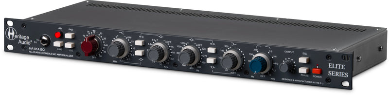 Heritage Audio HA-81A Class-A 73-Style Mic Pre with 81-Style EQ Hybrid Channel Strip