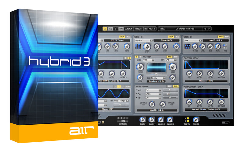 AIR Music Technology Hybrid 3 (2020) High-Def Virtual Synth Mac/PC VST/AU/AAX eDelivery