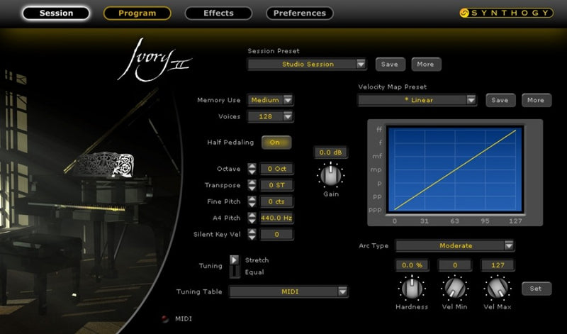 Synthology Ivory II Grand Pianos UPGRADE - Virtual Instrument Software - eDelivery