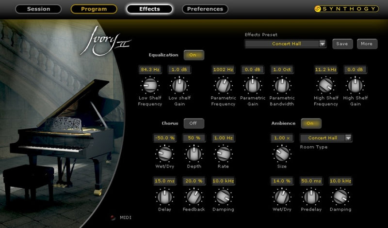 ILIO Synthology Ivory II Grand Pianos - Concert Grand Pianos Virtual Instrument Software (Boxed)