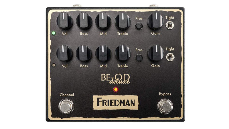 Friedman Amplification BE-OD Deluxe Dual Overdrive Guitar Effects Pedal