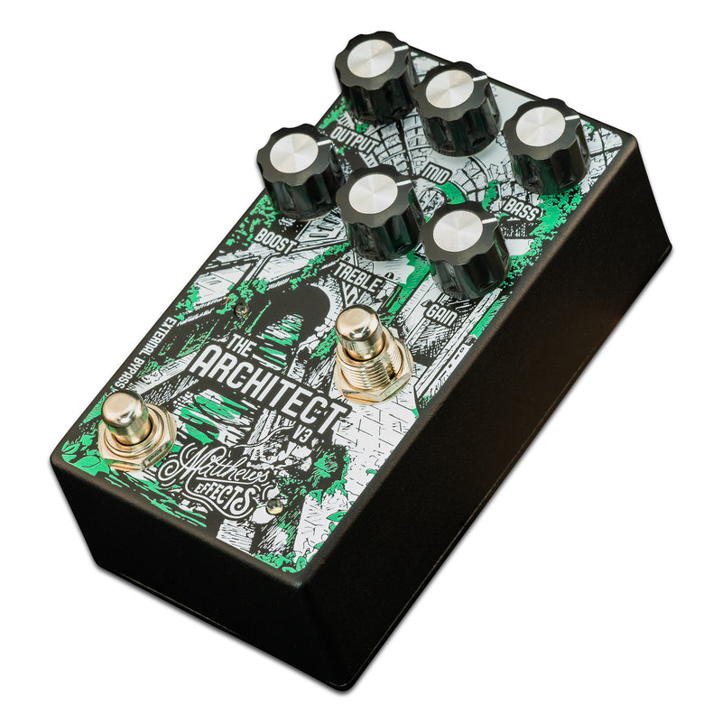"Matthews Effects Architect v3 Rick Matthews' ""Mythic"" Circuit K-style Overdrive & Boost Pedal"