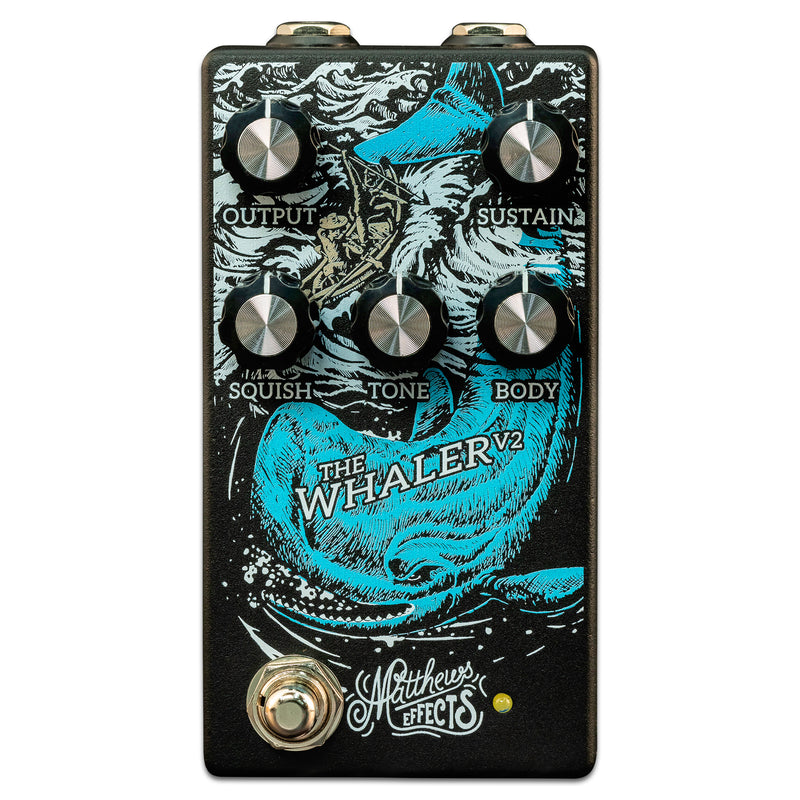 Matthews Effects The Whaler V2 Original Fuzz Guitar Effects Pedal w/ Dynamic Circuit