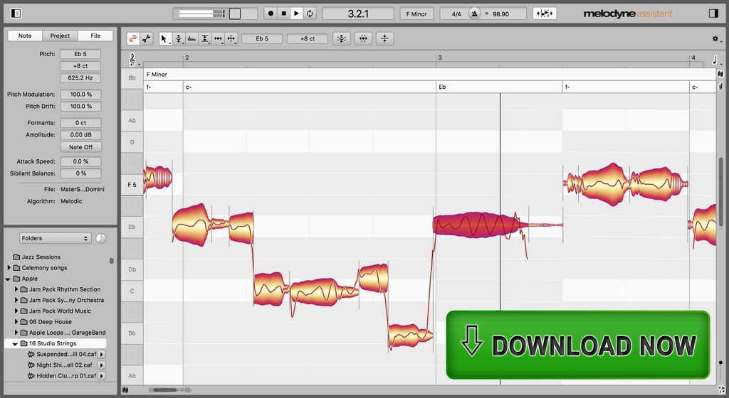 Celemony Melodyne 5 Assistant Upgrade Software - eDelivery