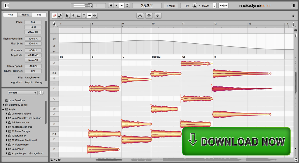 Celemony Melodyne 5 Editor Upgrade Software - eDelivery