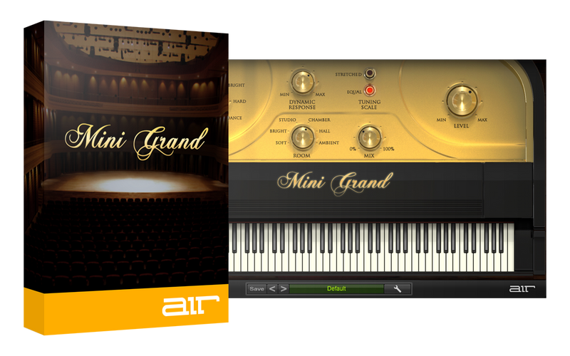 AIR Music Technology Mini Grand (2020) Virtual Acoustic Piano Instrument Suite - 7 Acoustic Piano Sounds Mac/PC VST/AU eDelivery