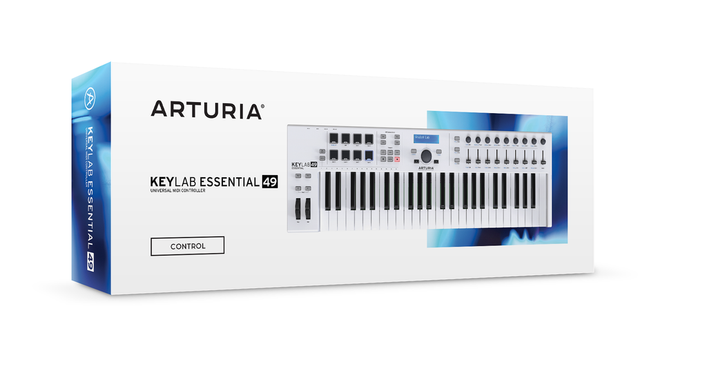Arturia KeyLab Essential 49 - Universal MIDI Controller and Software (White)