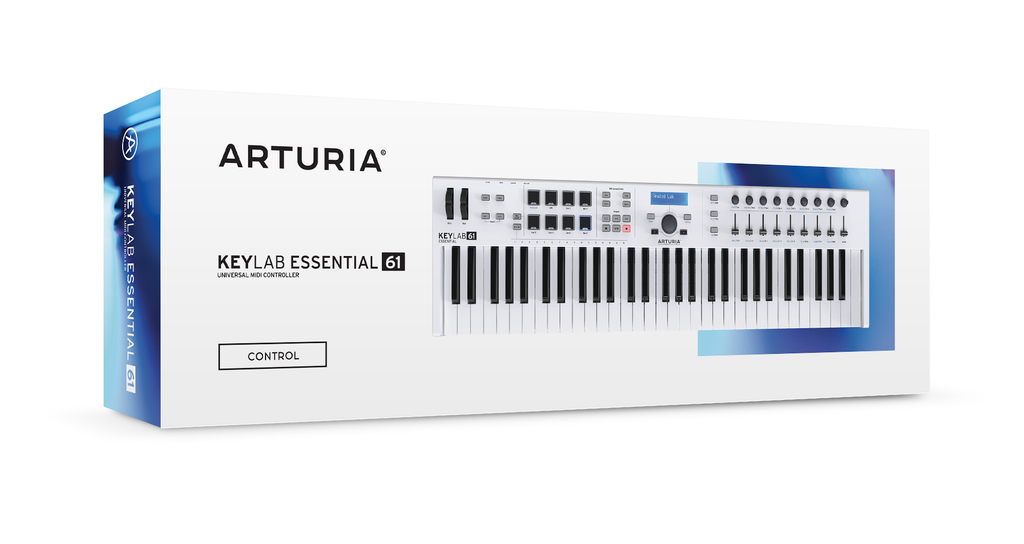 Arturia KeyLab Essential 61 - Universal MIDI Controller and Software (White)