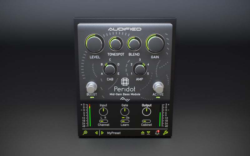 Audified Peridot Pro Bass Tone Powerhouse Plugin Software - eDelivery