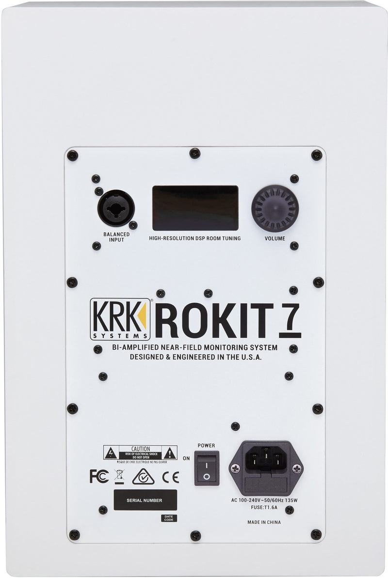 KRK RP8G4 Rokit 8 Generation 4 Powered Studio Monitors Speakers PAIR White - Bundle