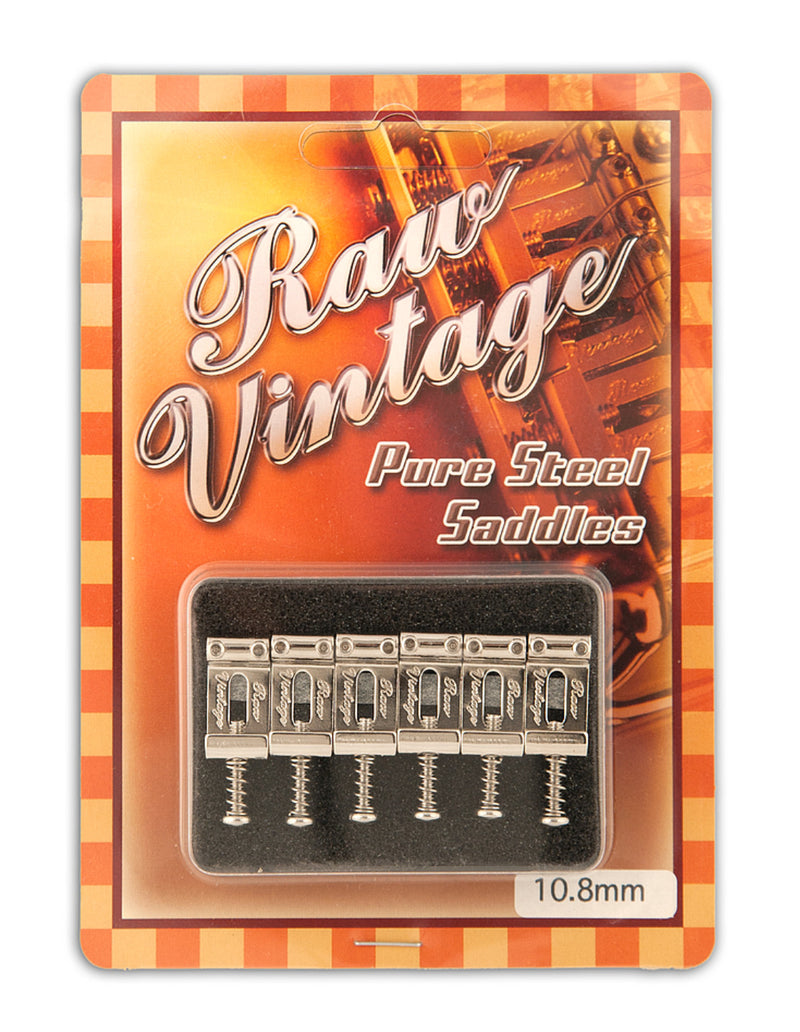 Xotic RVS-108 Raw Vintage Pure Steel Saddles 10.8mm (Gotoh Japan Type)