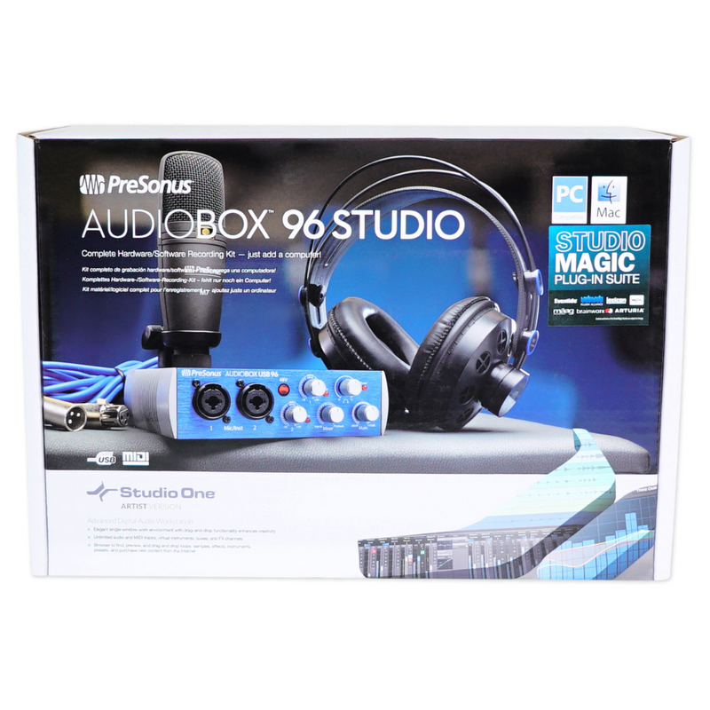 PreSonus AudioBox 96 Studio Complete Hardware/Software Recording Kit (Blue Edition)