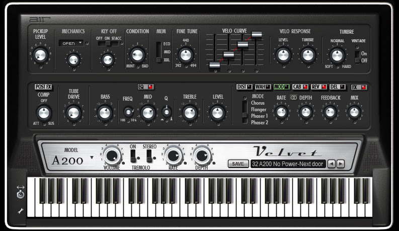 AIR Music Technology Velvet 2 (2020) Virtual Electric Piano Suite - Five 60's and 70''s Instruments Mac/PC VST/AU/AAX eDelivery