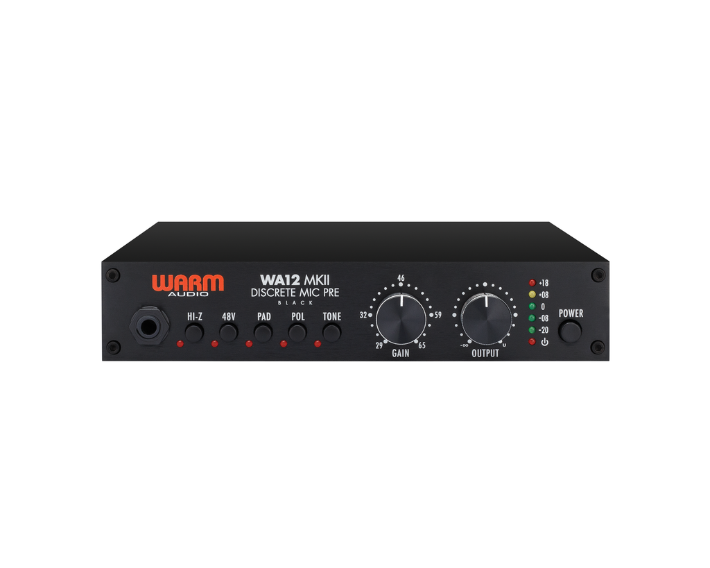 Warm Audio WA12 MKII Discrete Mic Pre (Black)