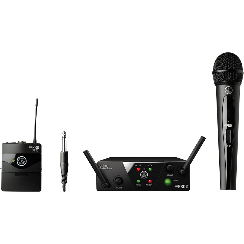 AKG WMS40 Mini Wireless Handheld & Bodypack Dual System (Channels A & C)