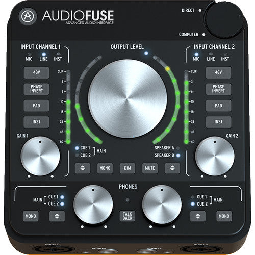 Arturia AudioFuse Rev2 - 14x14 USB Audio Interface (Black)