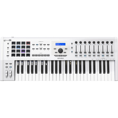 Arturia KeyLab MKII 49 Professional MIDI Semi-Weighted Controller and Software (White)