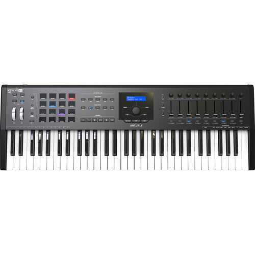 Arturia KeyLab MKII 61 Professional MIDI Semi-Weighted Controller and Software (Black)