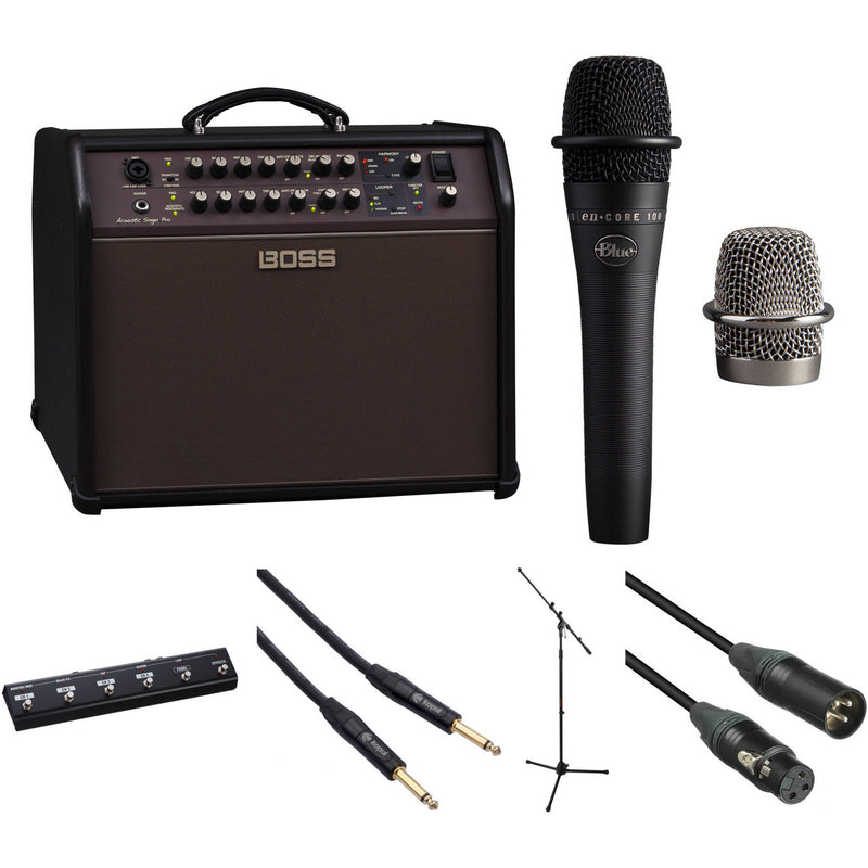 Boss ACS Pro 120W Combo Amp Kit with Blue Microphone and More