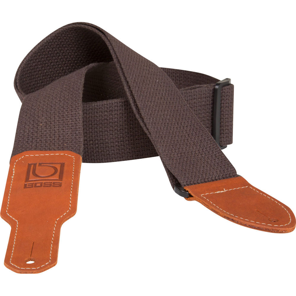 "Boss BSC-20-BRN 2"" Wide Cotton Instrument Strap (Brown)"