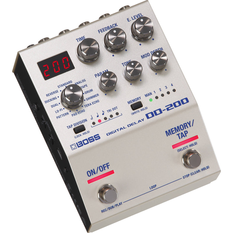 Boss DD-200 Digital Delay Pedal for Electric Guitars