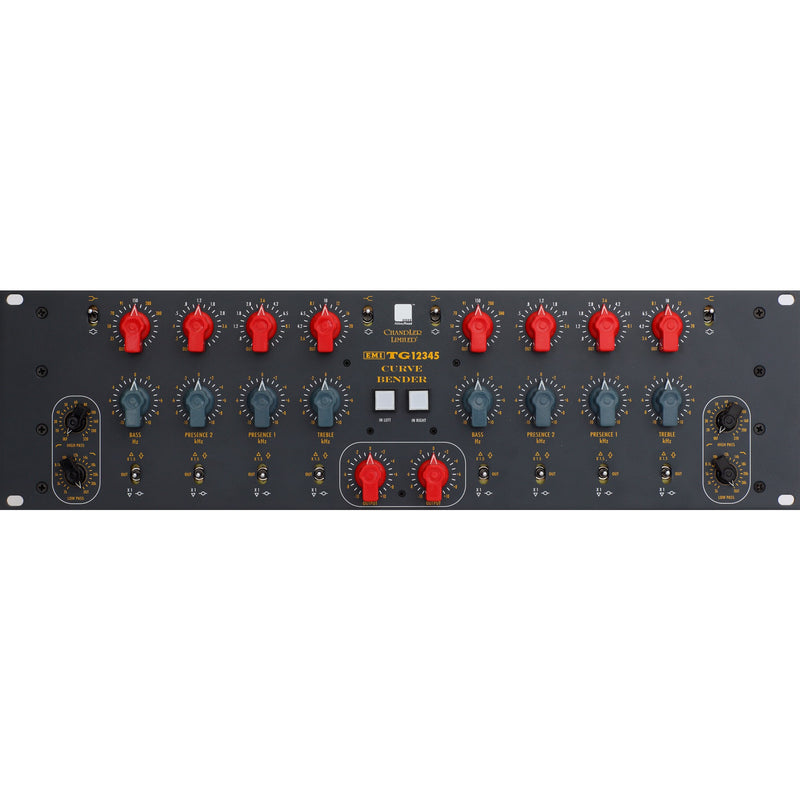 Chandler Limited TG12345 Curve Bender Dual/Mono EQ, 3-space Rackmount EMI/Abbey Road Studios