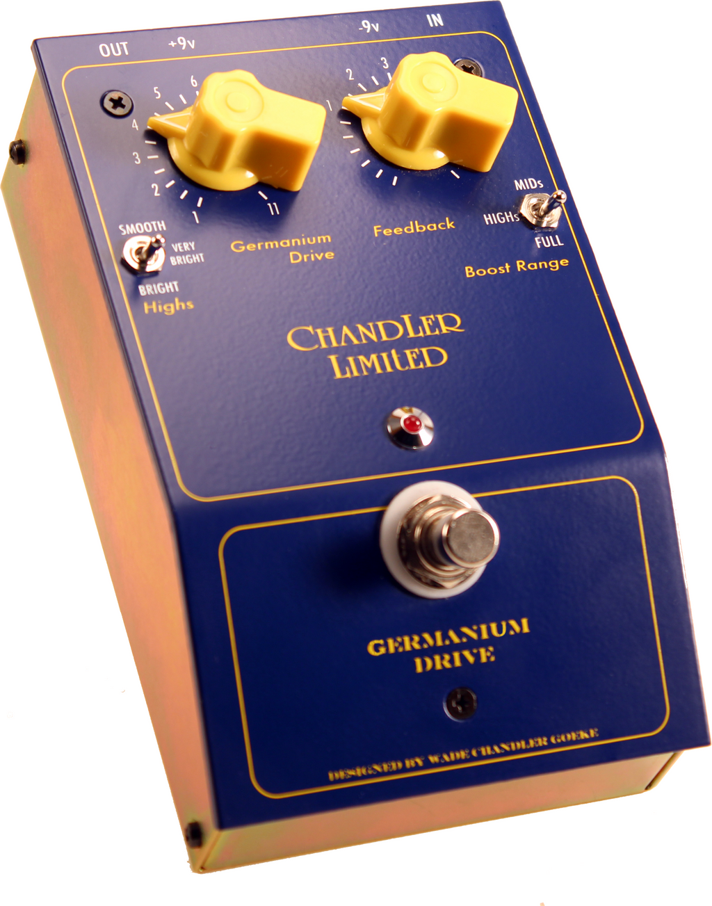 Chandler Limited Germanium Drive - Drive Effect Guitar/Bass/Keyboard, NOTE POWER REQUIREMENTS