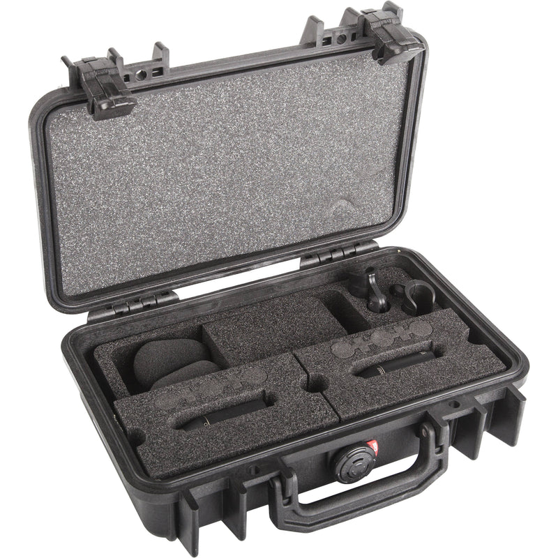 DPA Microphones d:dicate 4007C Stereo Pair with Clips and Windscreens in Peli Case