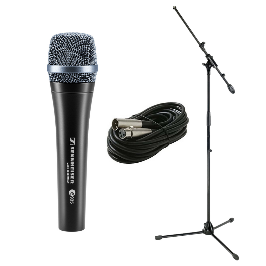 Sennheiser e935 Dynamic Cardioid Professional Stage Vocal Microphone Bundle