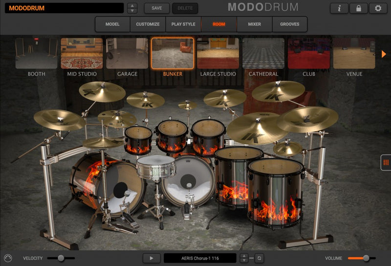 IK Multimedia MODO Drum CROSSGRADE Modal Synthesis Virtual Instrument Mac/PC AU/VST/AAX eDelivery