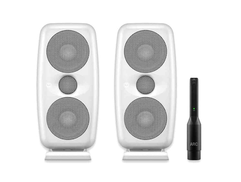 IK Multimedia iLoud MTM White High Resolution Compact Studio Monitors (Pair) + FREE Cables!