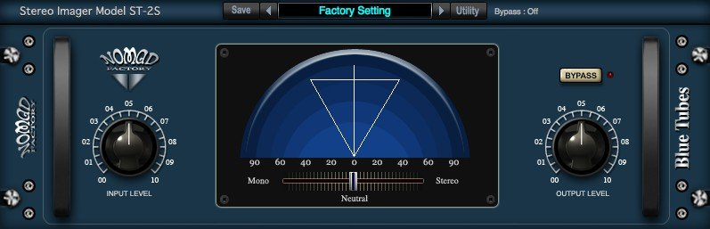 Nomad Factory Blue Tubes Stereo Imager ST2S Plugin Software - eDelivery