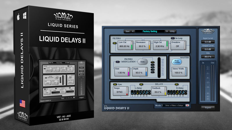 Nomad Factory Liquid Delays II Software - eDelivery