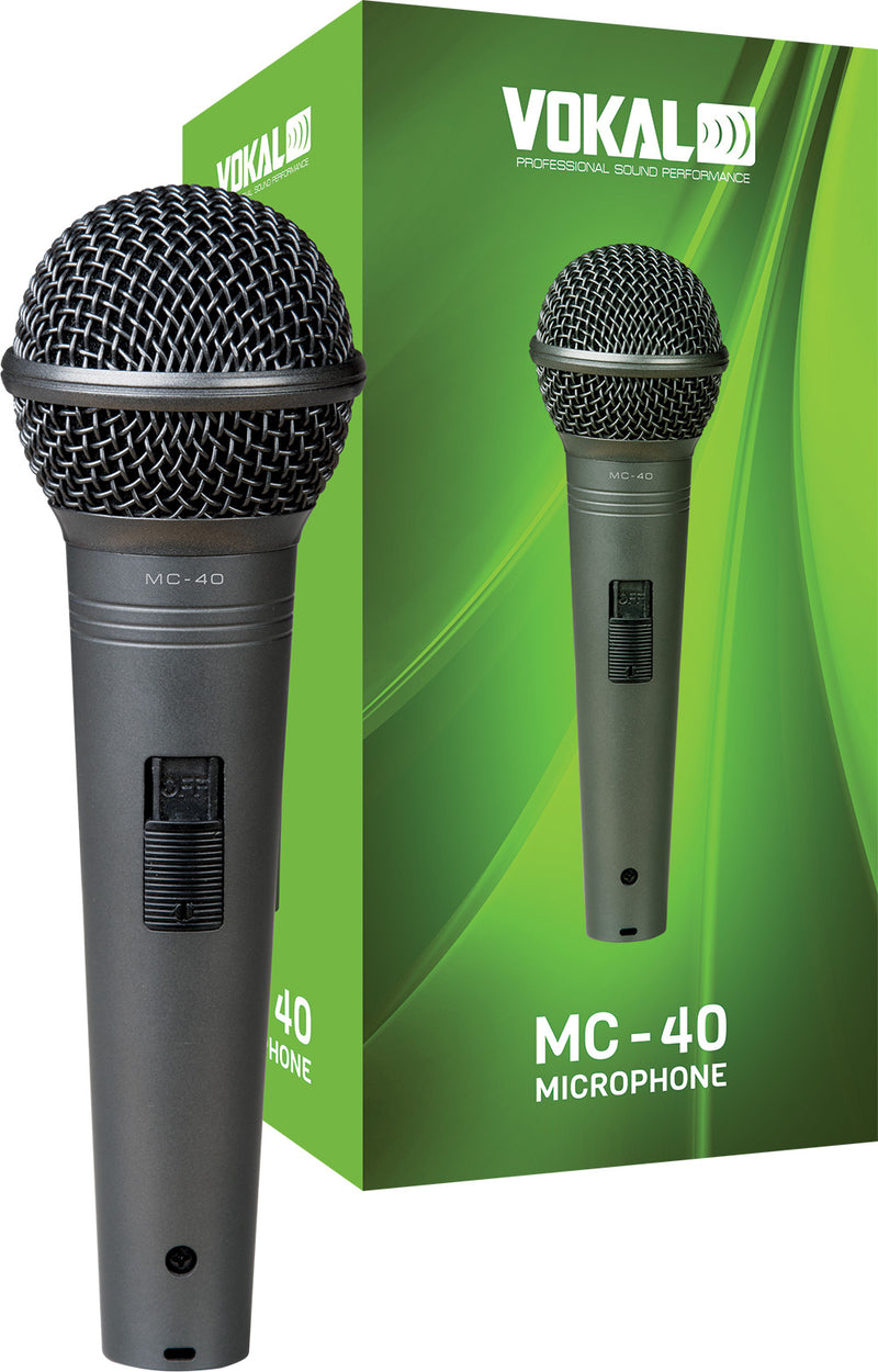 Vokal Professional MC-40 Dynamic Unidirectional Microphone